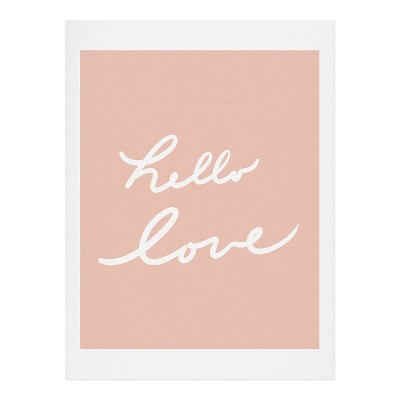 11 x14  Lisa Argyropoulos Hello Love Warm Blush Art Print Unframed Wall Poster Pink - Deny Designs