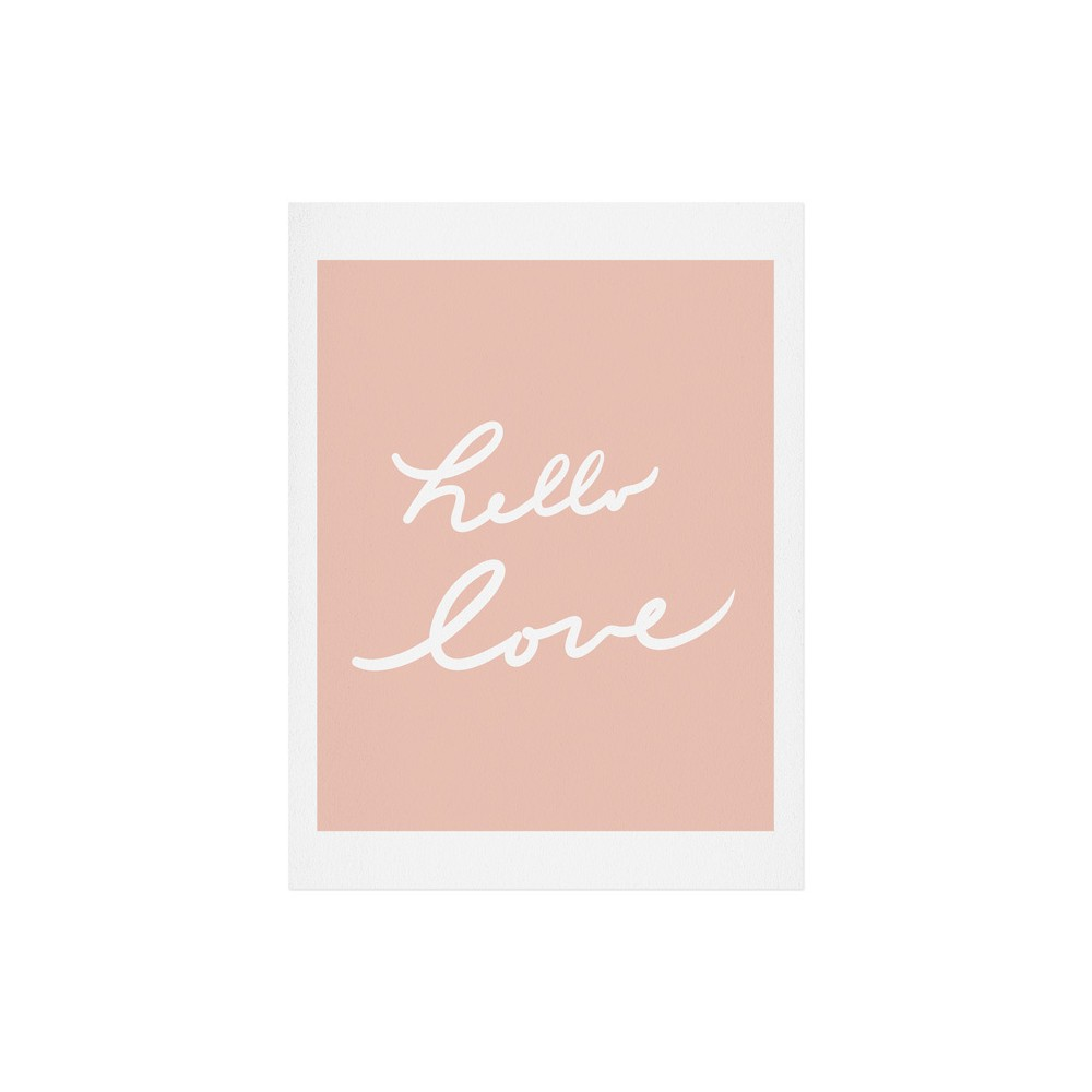 "Image of ""11""""x14"""" Lisa Argyropoulos Hello Love Warm Blush Art Print Unframed Wall Poster Pink - Deny Designs"""