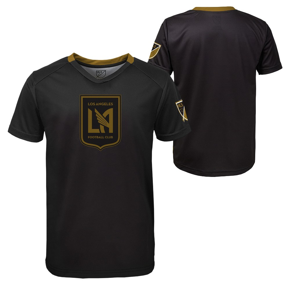 Boys' Short Sleeve Game Winner Sublimated Performance T-Shirt Los Angeles FC S, Multicolored