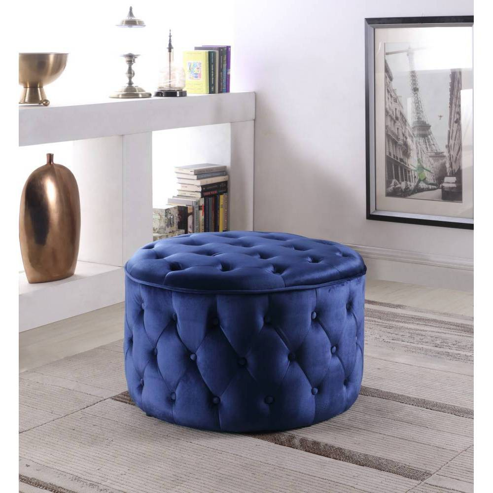 Adna Ottoman Navy - Chic Home Design was $279.99 now $195.99 (30.0% off)