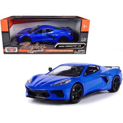 "2020 Chevrolet Corvette C8 Stingray Blue Metallic ""Timeless Legends"" 1/24 Diecast Model Car by Motormax"