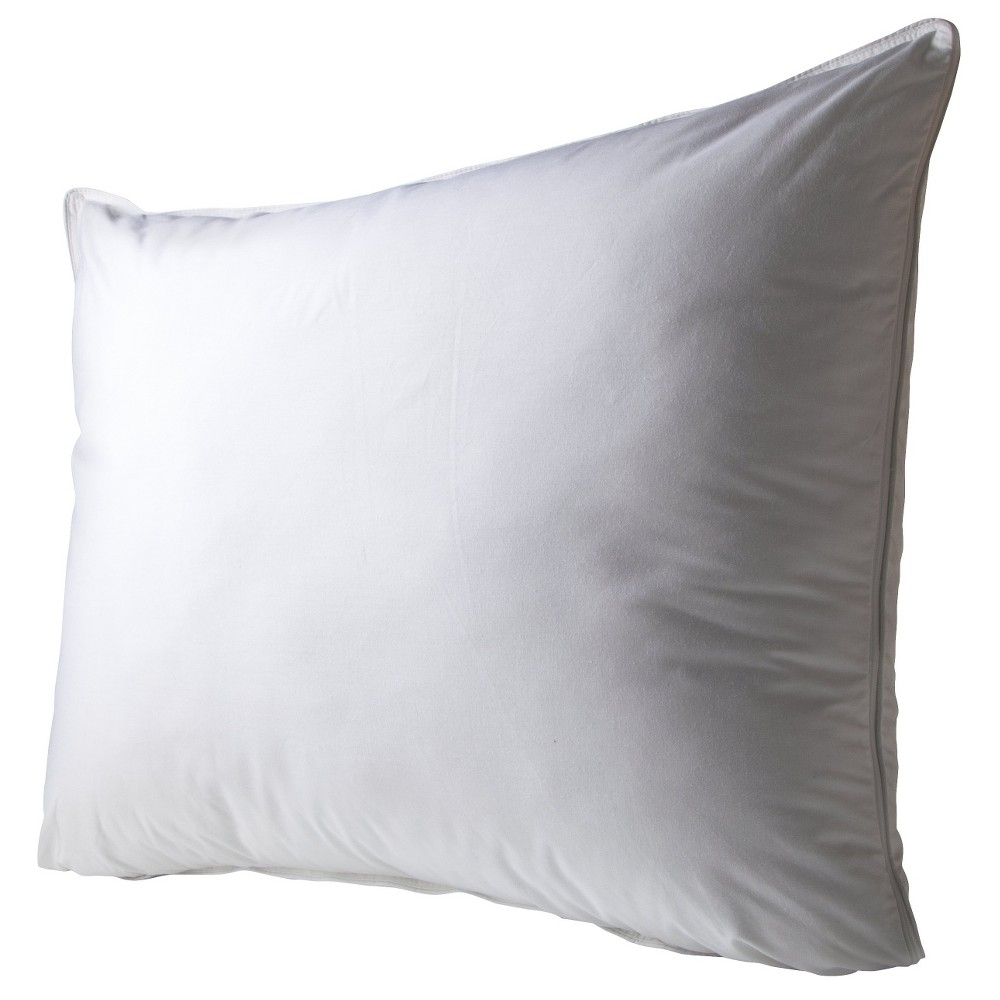 Image of 2 in 1 Reversible Gel Foam and Fiber Pillow - White