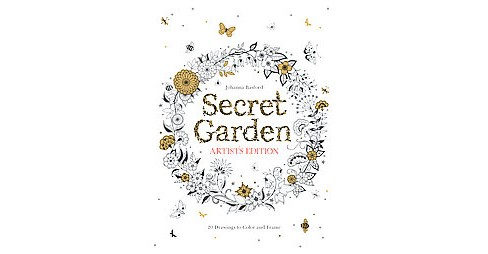 Secret Garden Adult Coloring Book: Artist's Edition 20 Drawings to Color and Frame - image 1 of 1