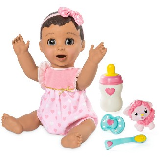 Luvabella Responsive Baby Doll with Realistic Expressions and Movement - Brunette Hair