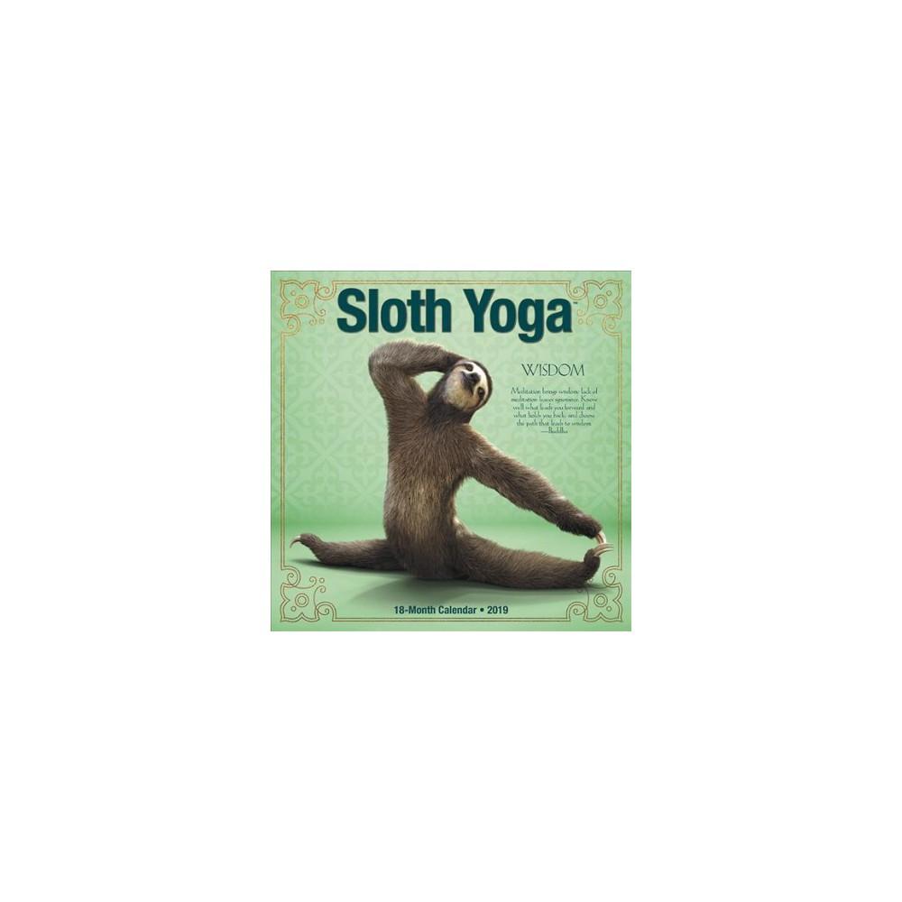Sloth Yoga 2019 Calendar - (Paperback)