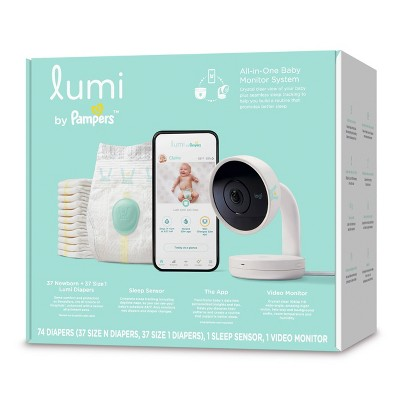 Lumi by Pampers Smart Video Baby Monitor + Sleep Kit Bundle