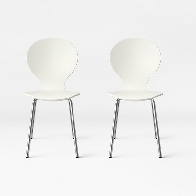 Goddard Modern Stacking Chair White (Set of 2)- Project 62™