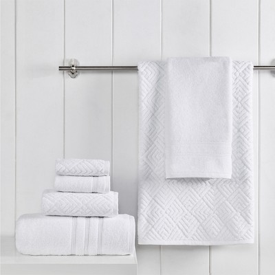Modern Threads Turkish Jacquard 100% Cotton 6 Piece Towel Set Sterling.