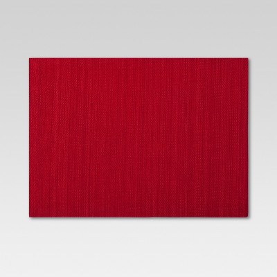 19 x14  Solid Placemat Red - Threshold™