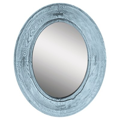 """18"""" x 22"""" Oval Rustic Decorative Mirror - PTM Images"""