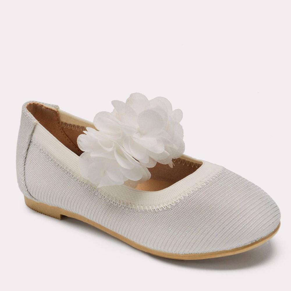 Toddler Girls' Oriana Ballet Flats - Cat & Jack White 9