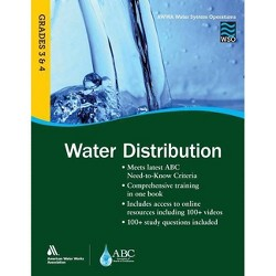 Wso Water Distribution, Grades 3 & 4 - by  Awwa (Paperback)