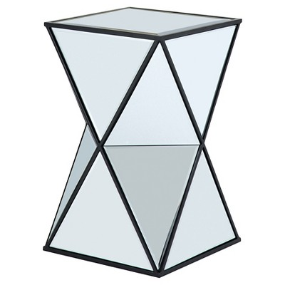 Nixon Angular Mirror Accent Table - Silver