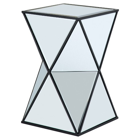 Nixon Angular Mirror Accent Table - Silver - image 1 of 4