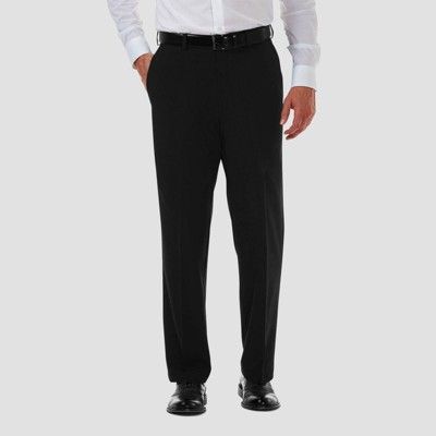 Haggar Men's Cool 18 PRO Classic Fit Flat Front Casual Pants