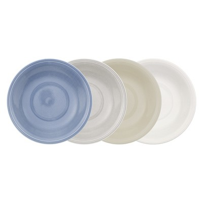 24oz 4pk Color Loop Porcelain Bowls - VIVO by V&B Group
