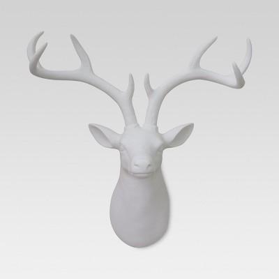17 x15  Stag Head Décor White - Threshold™