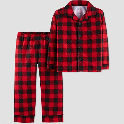 Baby Boys' Buffalo Check Coat Pajama Set - Just One You® made by carter's Red 12M