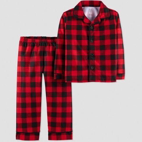 Toddler Boys' Buffalo Check Coat Pajama Set