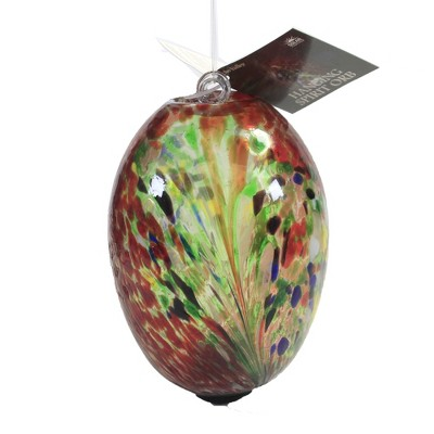 """Home & Garden 7.5"""" Matisse Red Hanging Orb Oblong Yard Decor Echo Valley  -  Outdoor Sculptures And Statues"""