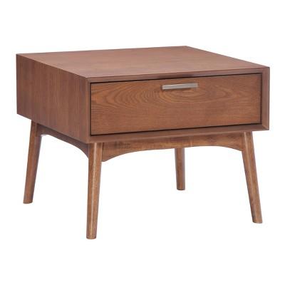 "Mid-Century Modern 19"" End Table - Walnut - ZM Home"
