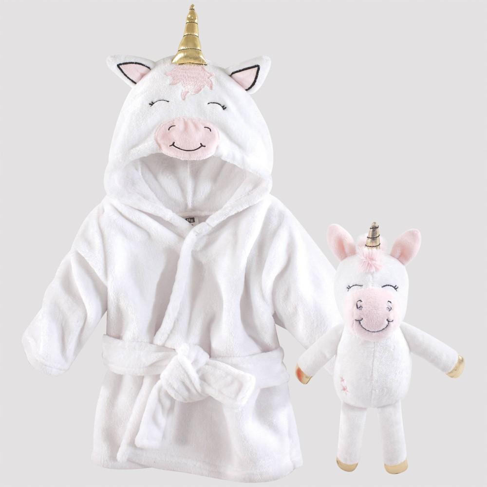Image of Hudson Baby Modern Unicorn Snuggle Time Box Bath Wraps Set - White 0-9M