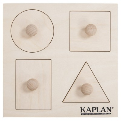 Kaplan Early Learning Peek A Boo Knob Shapes Puzzle