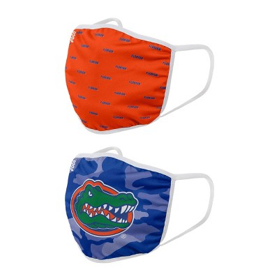 NCAA Florida Gators Adult Face Covering 2pk