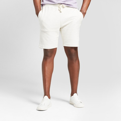 Men's Big & Tall Knit Shorts - Goodfellow & Co™ Cream - image 1 of 3