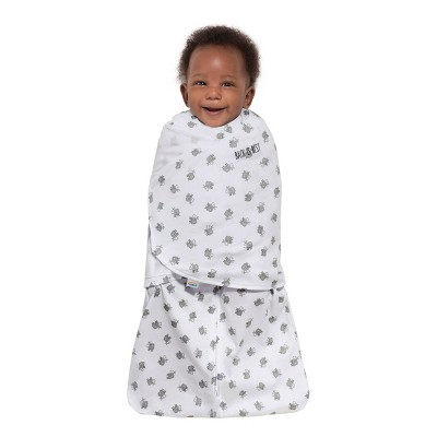 HALO Sleepsack 100% Cotton Swaddle Lamb Scribble - White Newborn