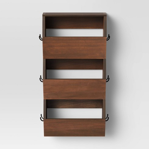 Vertical Bins with Hooks Brown - Threshold™ - image 1 of 3