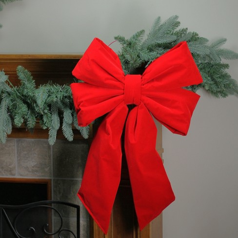 Target Christmas Commercial.Northlight 18 X 26 Commercial Structural 4 Loop Red Outdoor Christmas Bow Decoration