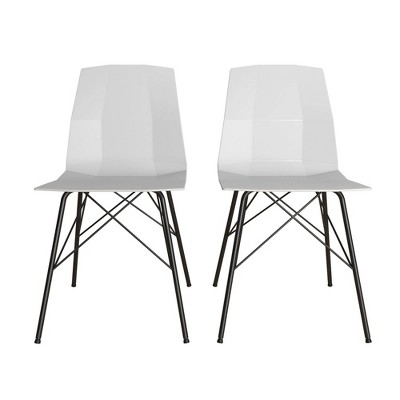 Set of 2 Riley Molded Dining Chair - CosmoLiving by Cosmopolitan