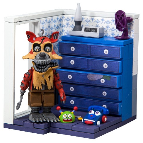 Five Nights at Freddy's Small Builds Left Dresser and Door with Nightmare Foxy - image 1 of 1