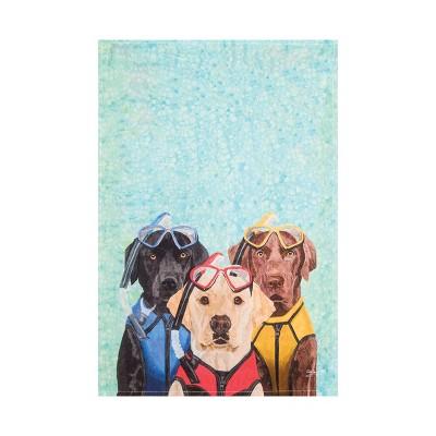 C&F Home Snorkel Dog Printed Flour Sack Kitchen Towel