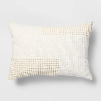 Lumbar Woven Textured Pillow White - Project 62™