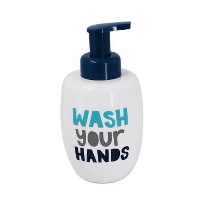Wash Your Hands Foaming Soap Dispenser White & Navy - Pillowfort™