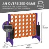 ECR4Kids Jumbo Four-To-Score Giant Game-Indoor/Outdoor 4-In-A-Row Connect - Orange and Purple - image 2 of 4