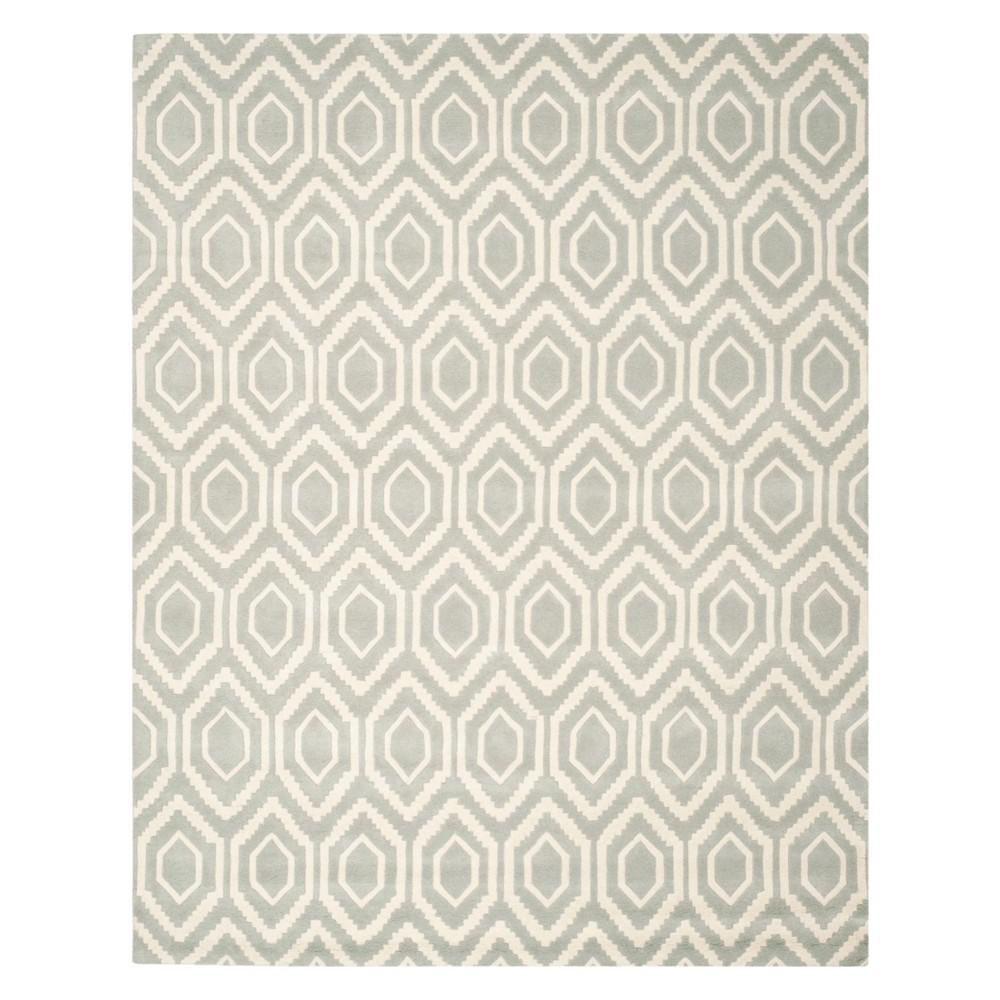 11'X15' Geometric Tufted Area Rug Gray/Ivory - Safavieh