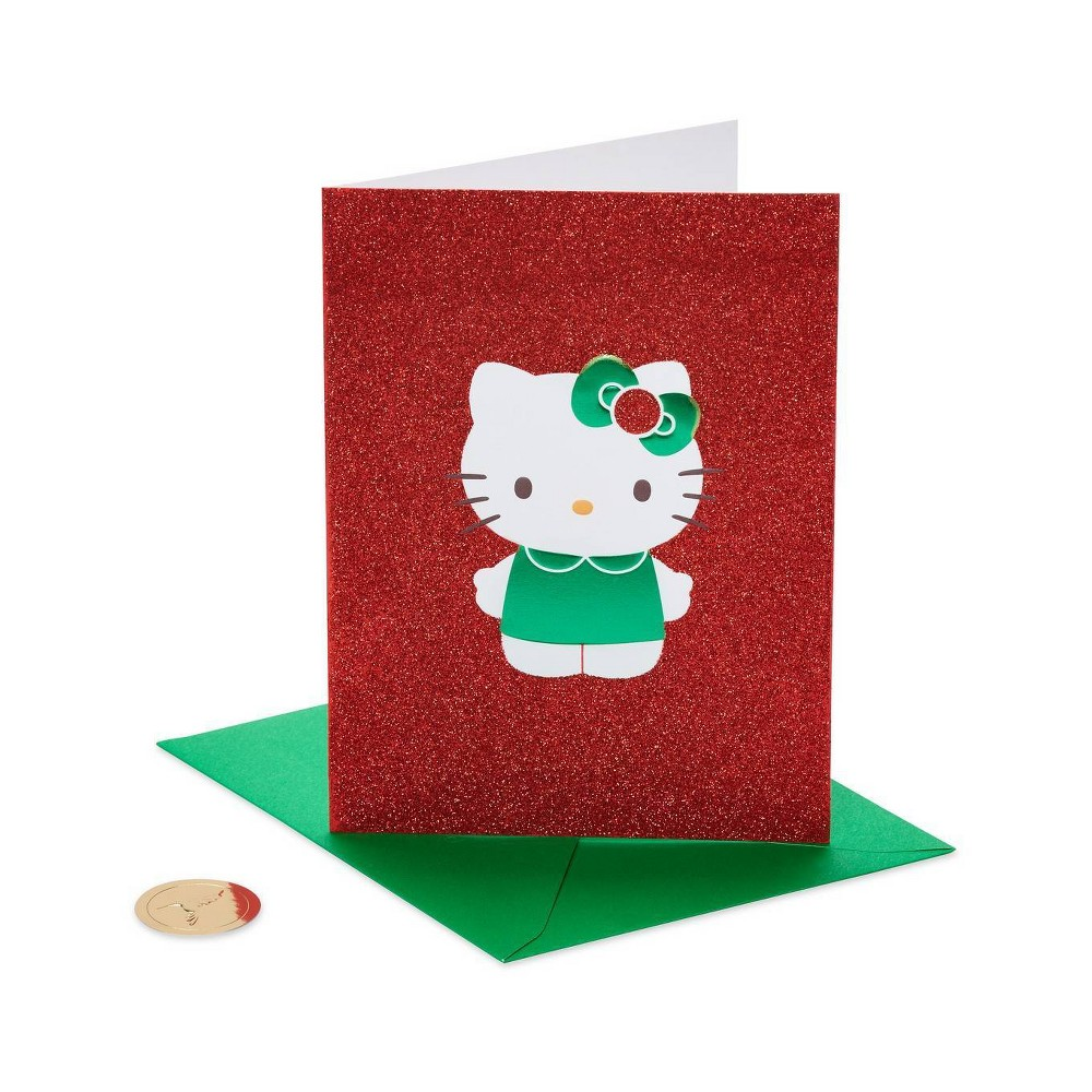 Image of 12ct Papyrus Christmas Hello Kitty Boxed Holiday Greeting Cards, White