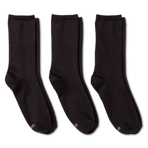 a19a551d55e02 Hanes Solutions® Women's Trouser Sock Black 5-9 : Target