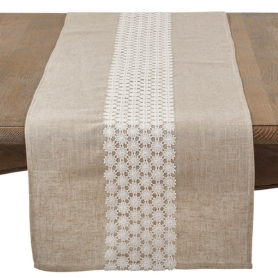 Natural Lace Table Runner - Saro Lifestyle