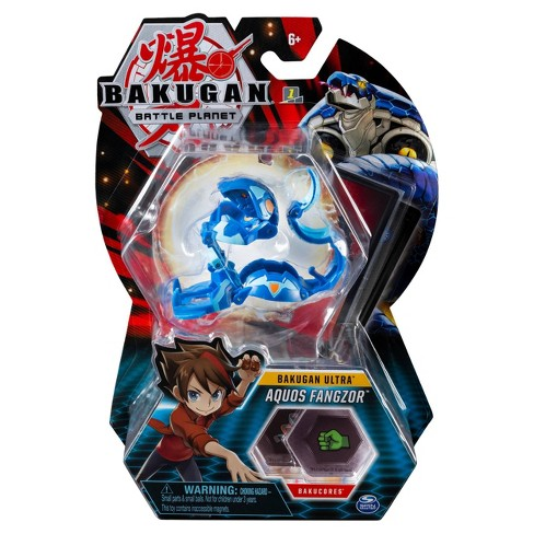 """Bakugan Ultra Aquos Fangzor 3"""" Collectible Action Figure and Trading Card - image 1 of 3"""