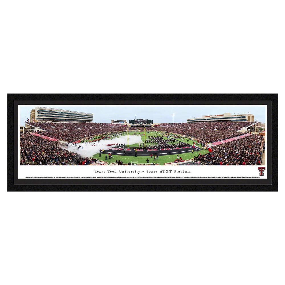 NCAATexas Tech Red Raiders BlakewayFootball Stadium View Framed Wall Art, Texas Tech Red Raiders