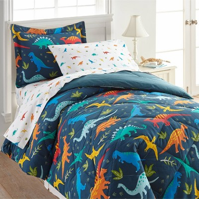 7pc Full Jurassic Dinosaurs Cotton Bed in a Bag - WildKin