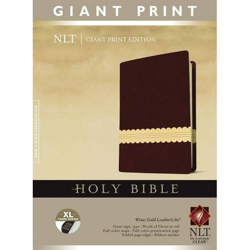Giant Print Bible-NLT - (Leather_bound) - image 1 of 1