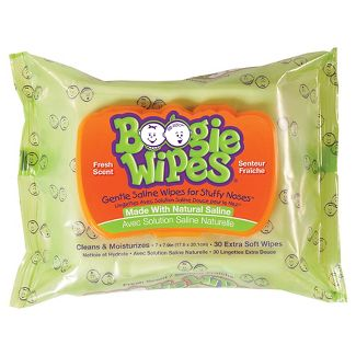 Boogie Wipes Saline Nose Wipes Fresh Scent - 30ct
