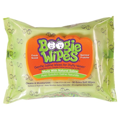 Boogie Wipes Saline Nose Wipes Fresh Scent - 30ct - image 1 of 4
