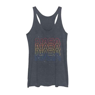 Women's NASA Rainbow Repeat Logo Racerback Tank Top