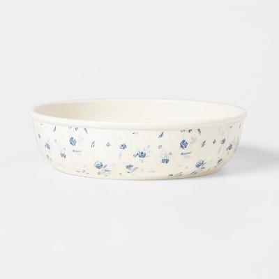 44oz Melamine Floral Pasta Bowl White/Blue - Threshold™